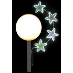 Visuel Illumination Étoile Stellaire pour lampadaire boule de ville - DMC Direct