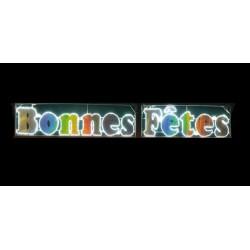 Visuel du texte Bonnes fêtes lumineux pour communes - DMC Direct