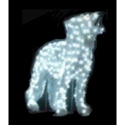 Visuel du décor 3D Croc Blanc lumineux - décor extérieur pour collectivités - DMC Direct