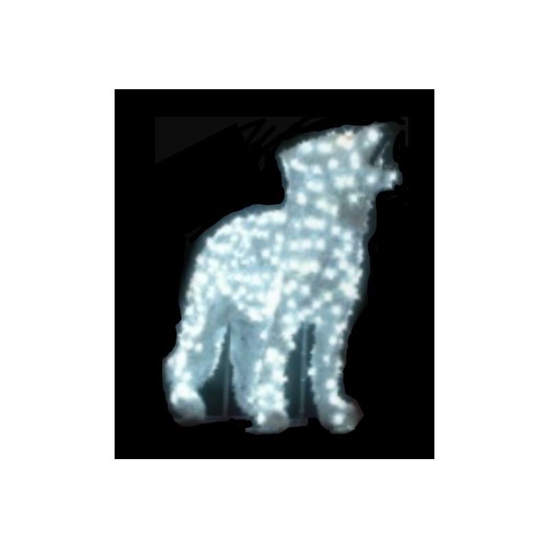 d cor de no l 3 d figurine loup hurlant lumineux d cor. Black Bedroom Furniture Sets. Home Design Ideas