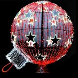 Visuel de la boule lumineuse de Noël pour rond-point - décor extérieur pour ville - DMC Direct