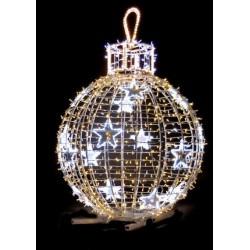 Visuel de la Boule de Noël lumineuse et pétillante sur pied - décor extérieur pour mairie - DMC Direct