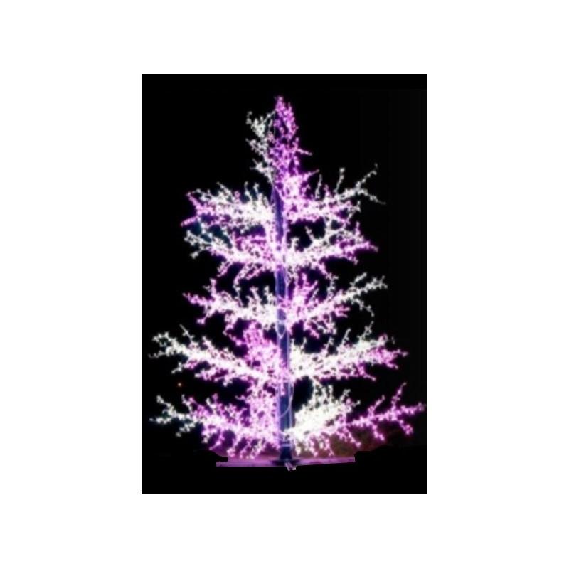 D cor de no l 3 d figurine sapin branches lumineuses for Decoration noel exterieur pour ville