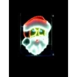 Décor pour poteau Père Noël lumineux