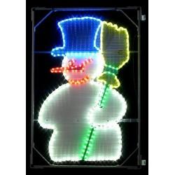 Bonhomme de Neige lumineux décor pour candélabre