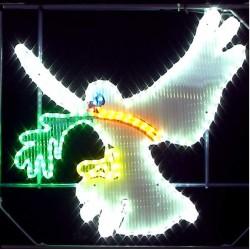 Colombe de la Paix lumineuse décor traditionnel pour réverbère