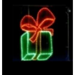 Paquet Cadeau lumineux décor traditionnel pour réverbère