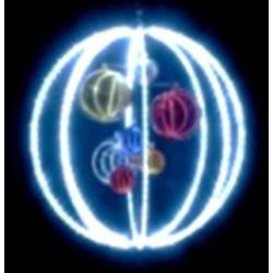 Sphère mobile lumineuse à suspendre