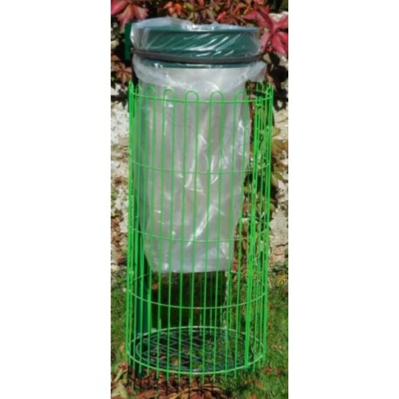 Support de sac poubelle avec entourage grillagé