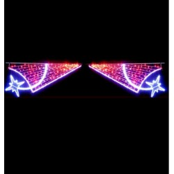 Traverse lumineuse de rue décor Étoile frisson