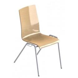 Chaise de réunion Diams coque en bois