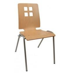Chaise design Damien coque en bois pour salle de réunion