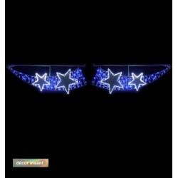 Voûte de rue lumineuse irisant décor Étoiles scintillantes