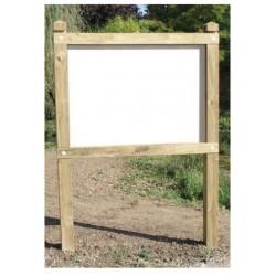 Planimètre classique panneau PVC poteaux carrés