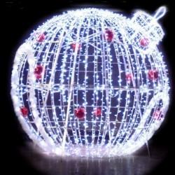 Igloo boule lumineuse - décor extérieur 3D pour ville