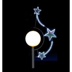 Étoile en ronde décor luminaire de lanterne boule