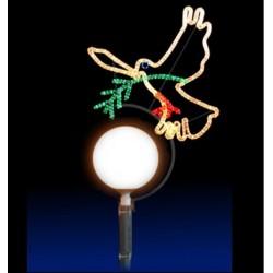 Colombe lumineuse décor pour lanterne boule