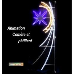Illumination animée et pétillante