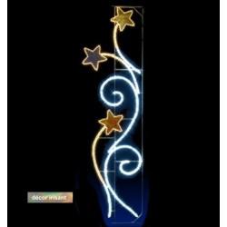 Illumination Étoiles et volutes de Noël irisée