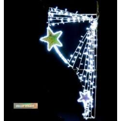 Luminaire de Noël rideau étoilé irisé