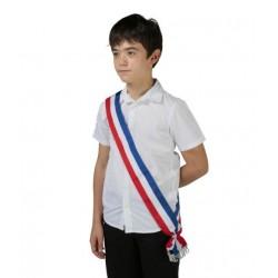Écharpe tricolore neutre pour Jeune élu