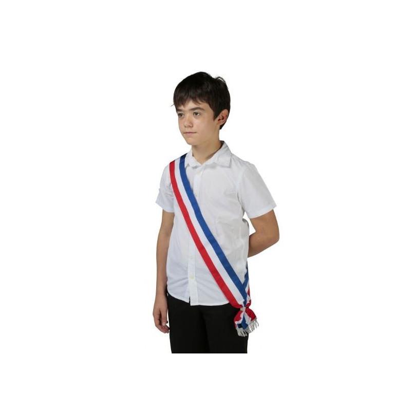 Écharpe tricolore neutre pour Jeune élu - DMC Direct