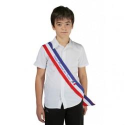 Écharpe tricolore imprimée pour Jeune élu