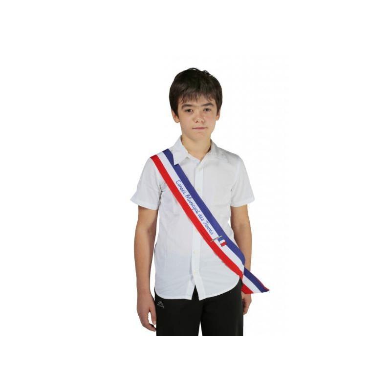 Écharpe tricolore imprimée pour Jeune élu - DMC Direct