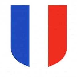 Visuel de l'écusson Tricolore porte drapeaux de façade - châssis en aluminium - DMC Direct