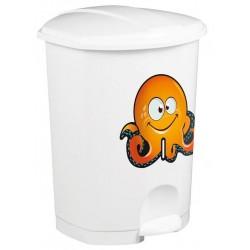 Corbeille à pédale - 50 L pour sanitaire enfant avec sticker ludique - DMC Direct