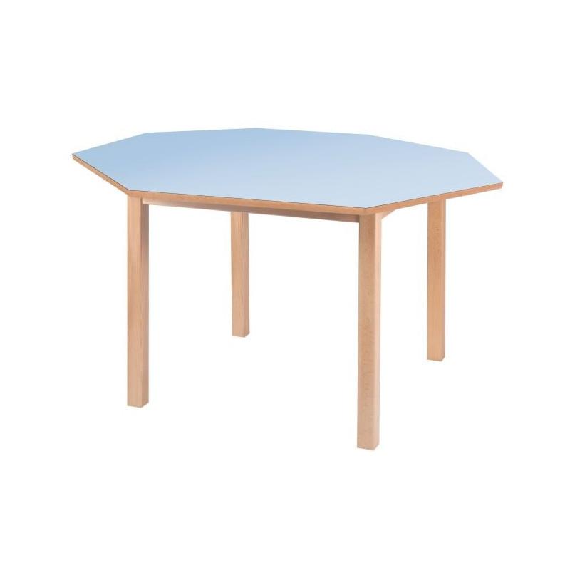 Visuel de la table scolaire octogonale