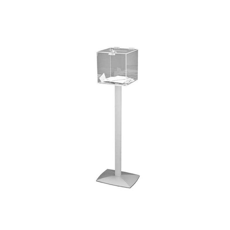 Urne transparente sécurisée sur pied lesté - 500 bulletins - DMC Direct