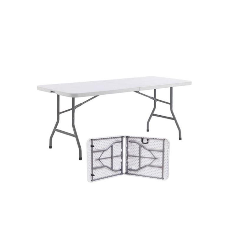 Table en polypropylène pliante d'appoint - format valise avec poignée - DMC Direct