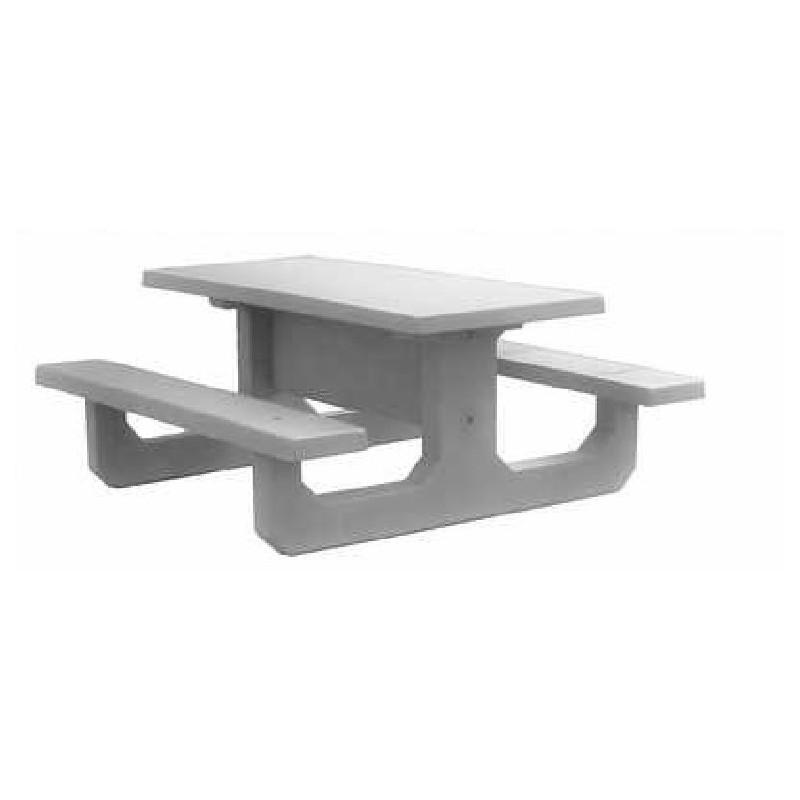 table pique nique en béton pour collectivités - dmc direct