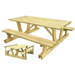 Table de jardin pique-nique Hambourg en bois
