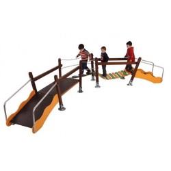 Structure de jeux double Pont