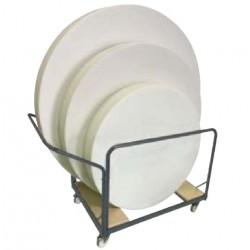 Chariot pour tables pliantes rondes