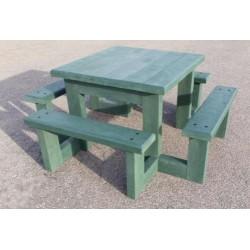 Table pique-nique en recyclé enfants Pom d'Api