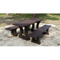 Table pique-nique Tania 180 cm en recyclé
