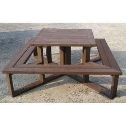 Table pique-nique recyclé Métro