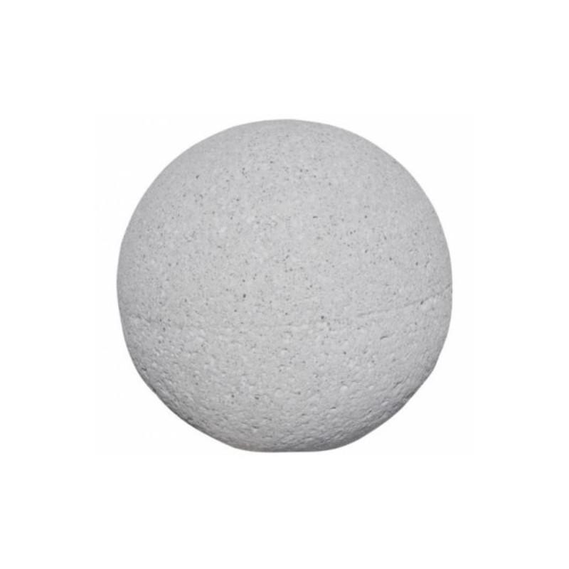Borne sphérique en béton gris sablé