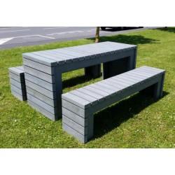 Table plastique recyclé pour Pique Nique Éva