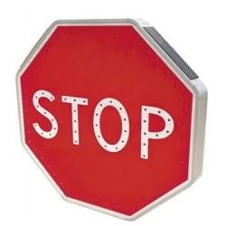 Panneau Stop solaire à leds autonome type AB4
