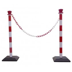 Kit de poteaux PVC de signalisation à chaîne