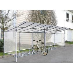 Visuel de l'abri à vélo en aluminium