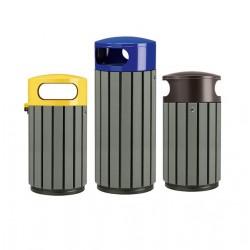 Corbeille extérieure en recyclé Zen