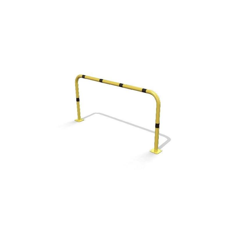 Arceau de sécurité jaune et noir sur platines