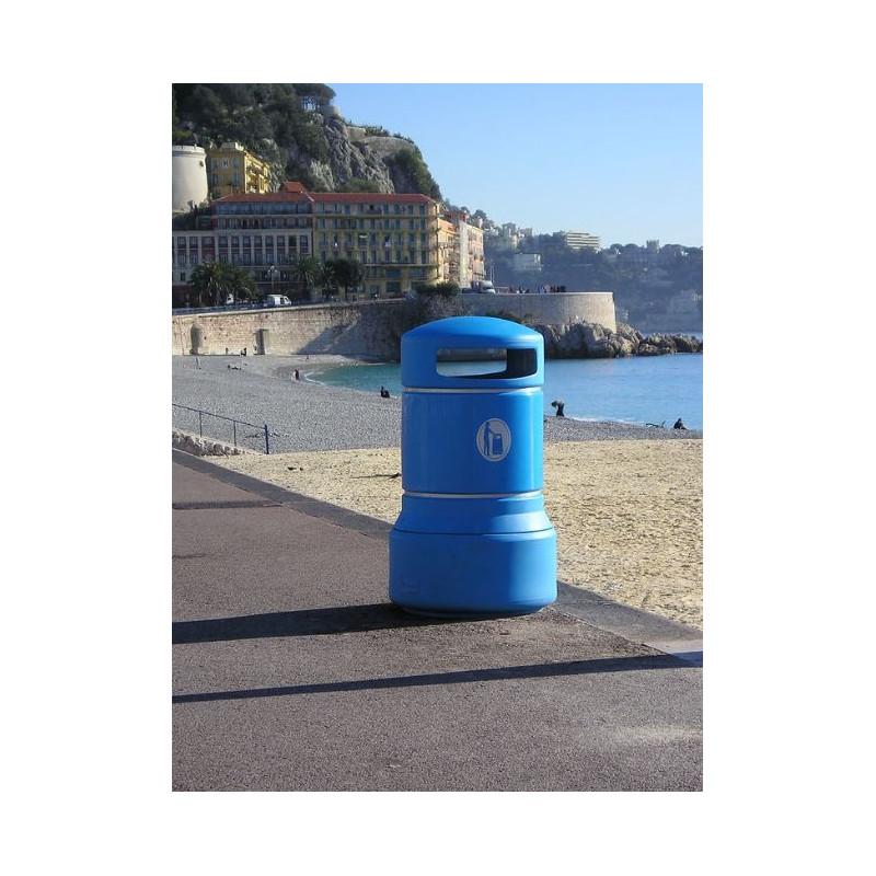 Visuel de la poubelle de collectivité en polyéthylène Galet Plaza - DMC Direct