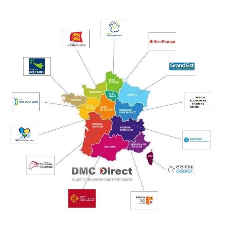 Drapeaux Officiels horizontaux des Régions françaises et Provinces à hisser sur un mât - DMC Direct