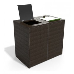 Abri pour conteneurs en recyclé